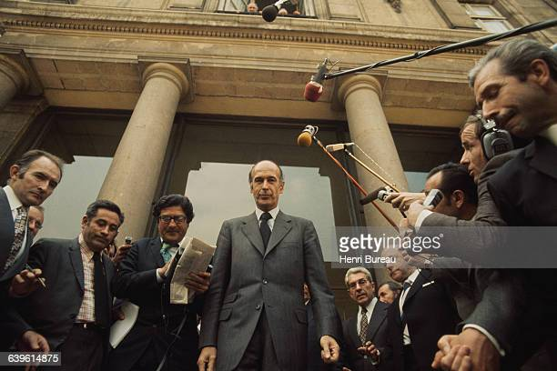 Valery Giscard d'Estaing, newly elected as President of France, the day of his inauguration at the Elysee Palace.