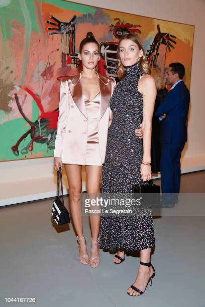 Valery Kaufman and Madison Headrick attend the Opening Of The New Exhibitions JeanMichel Basquiat And Egon Schiele At The Fondation Louis Vuitton at...