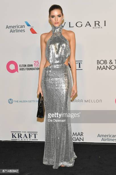 Valery Kaufman attends Elton John AIDS Foundation 25th Year And Honors Founder Sir Elton John During New York Fall Gala at Cathedral of St John the...
