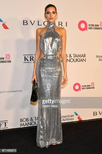 Valery Kaufman attends the Elton John AIDS Foundation's Annual Fall Gala with Cocktails By Clase Azul Tequila at Cathedral of St John the Divine on...