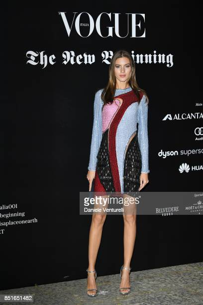 Valery Kaufman attends the Vogue Italia 'The New Beginning' Party during Milan Fashion Week Spring/Summer 2018 on September 22 2017 in Milan Italy