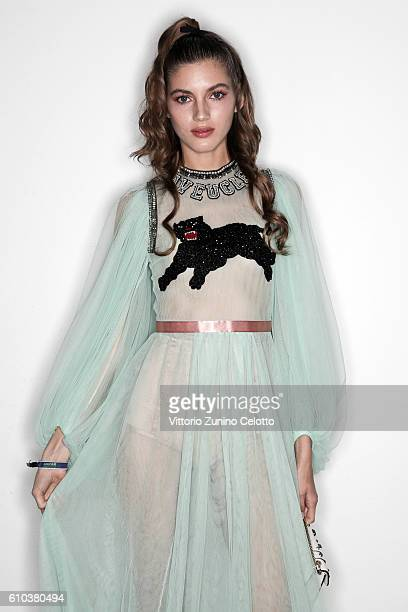 Valery Kaufman poses for a portrait during amfAR Milano 2016 at La Permanente on September 24 2016 in Milan Italy