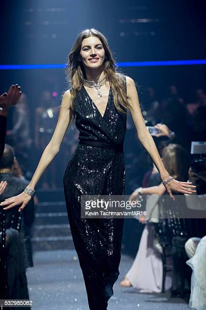 Valery Kaufman walks the runway at amfAR's 23rd Cinema Against AIDS Gala at Hotel du CapEdenRoc on May 19 2016 in Cap d'Antibes France