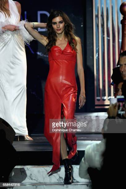 Valery Kaufman wearing Louis Vuitton walks the runway at the amfAR Gala Cannes 2017 at Hotel du CapEdenRoc on May 25 2017 in Cap d'Antibes France