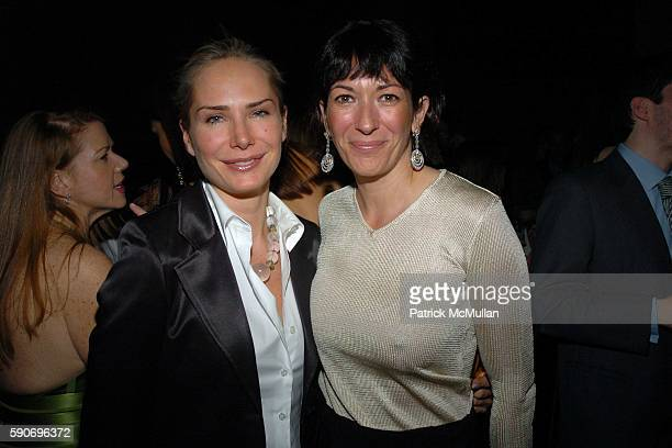 Valesca Guerrand Hermes and Ghislaine Maxwell attend de Grisogono Sponsors The 2005 Wall Street Concert Series Benefitting Wall Street Rising with a...