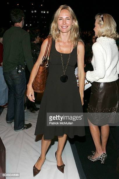 Valesca Guerrand Hermes attends OSCAR DE LA RENTA Spring 2007 Fashion Show at The Tent at Bryant Park on September 11 2006 in New York City