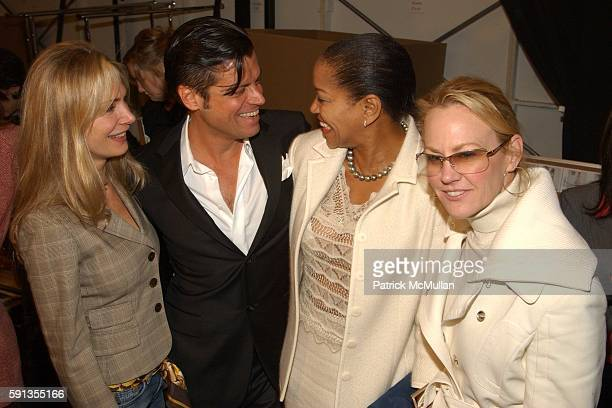 Valesca Guerrand Hermes Douglas Hannant Grace Hightower and Muffie Potter Aston attend Douglas Hannant Fall 2005 Fashion Show at The Plaza at Bryant...