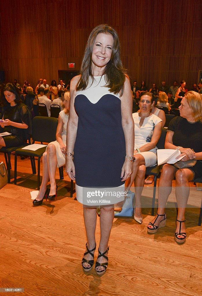 Valesca Hermes is seen on the front row at the Douglas Hannant fashion show during Mercedes-Benz Fashion Week Spring 2014 on September 11, 2013 in New York City.