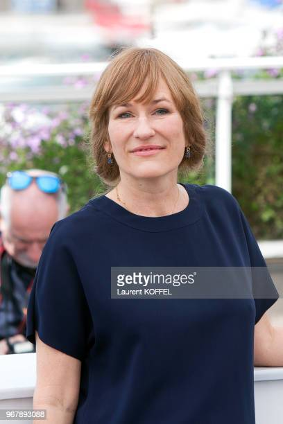 Valeska Grisebach attends 'Western' Photocall during the 70th annual Cannes Film Festival at Palais des Festivals on May 18 2017 in Cannes France