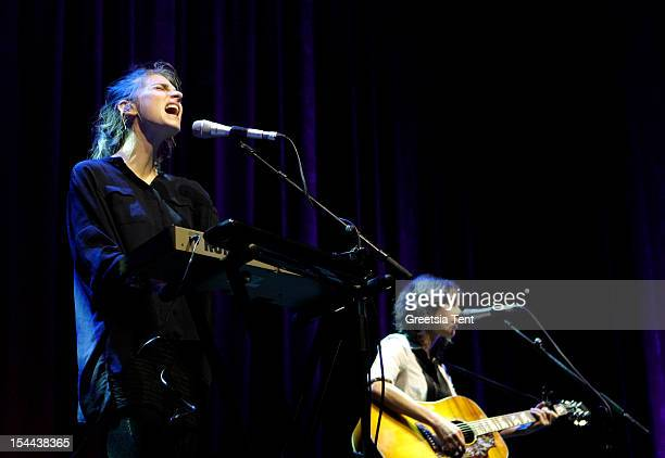 Valeska Steiner and Sonja Glass of Boy perform supporting Katie Melua at Heineken Music Hall on October 19 2012 in Amsterdam Netherlands