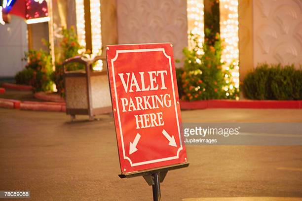 Valet parking sign