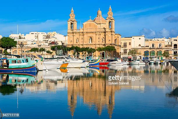 valetta, st joseph's church - valletta stock pictures, royalty-free photos & images
