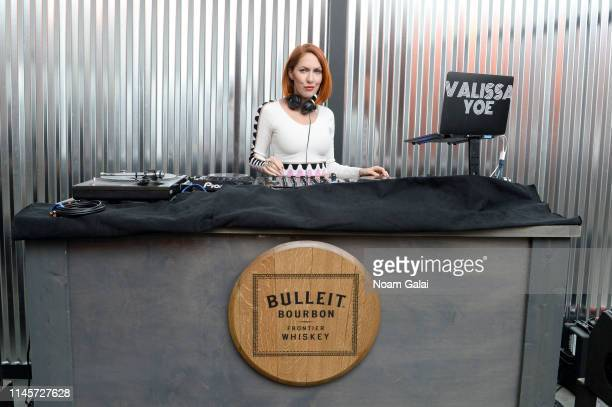 Valissa Yoe spins at the Plus One Premiere After Party at the Bulleit 3D printed Frontier Lounge during Tribeca Film Festival on April 28 2019 in New...