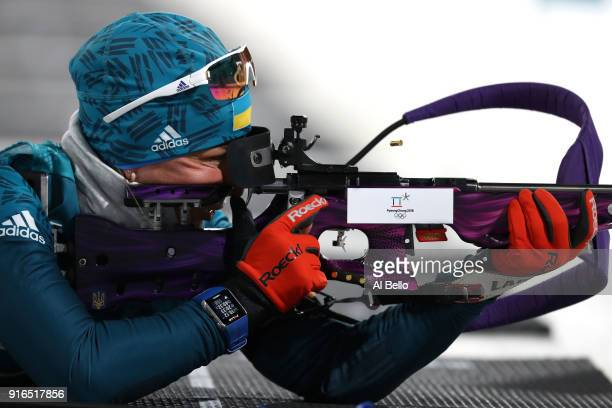 Valj Semerenko of Ukraine competes during the Women's Biathlon 75km Sprint on day one of the PyeongChang 2018 Winter Olympic Games at Alpensia...
