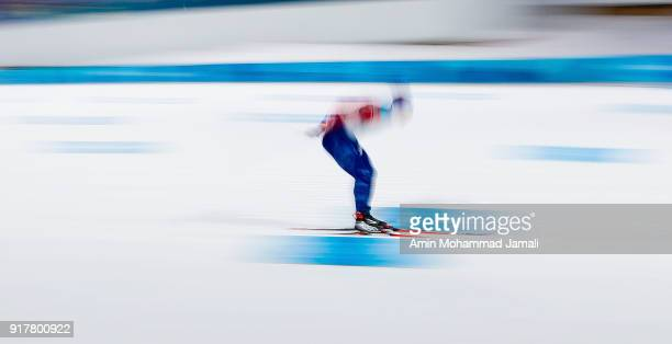 Valjas Len of Canada during the CrossCountry Skiing mens' Sprint Classic Qualificationon on day four of the PyeongChang 2018 Winter Olympic Games at...