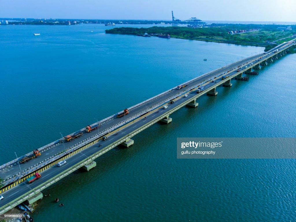 Vallarpadam Bridge-Kerala : Stock-Foto