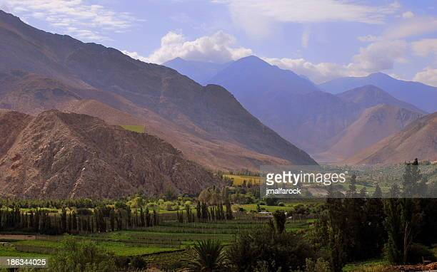 valle de elqui - valle foto e immagini stock