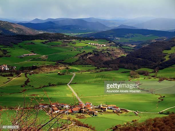 valle de ollo - arteta stock photos and pictures