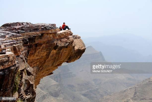 Valle et village de BaT Muni au Ymen du nord Promontoire rocheux surplombant la valle
