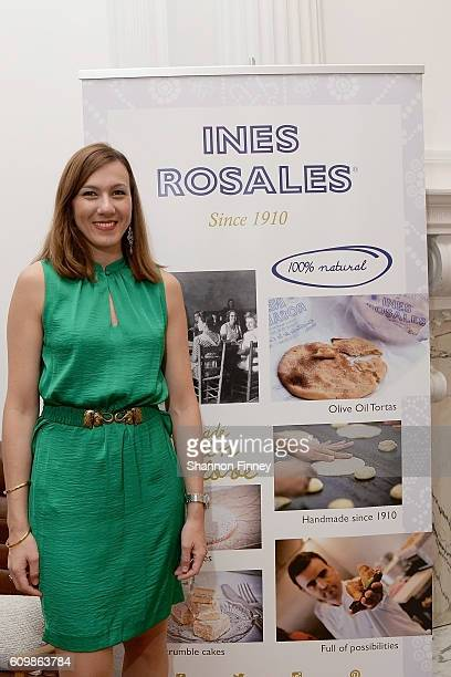 Valle Guerrero the USA Manager of Ines Rosales sweet and savory tortas attends the Vincente Ferrer Foundation's Recipe for Empowerment charity event...
