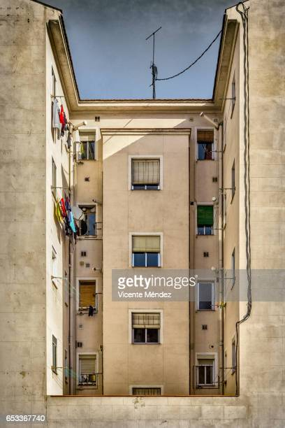vallecas courtyard - humility stock pictures, royalty-free photos & images