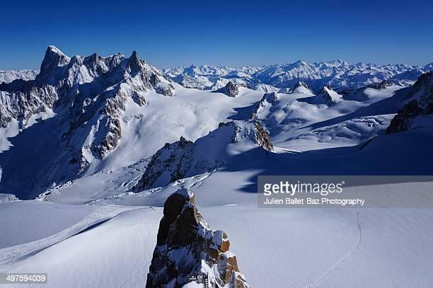 vallee blanche - valle blanche fotografías e imágenes de stock
