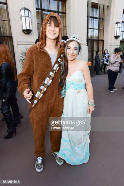 J Valleroy and Ava Cantrell at the Dream Halloween 2017 Costume Party Benefitting Starlight Children's Foundation presented by Michaels and Aaron...