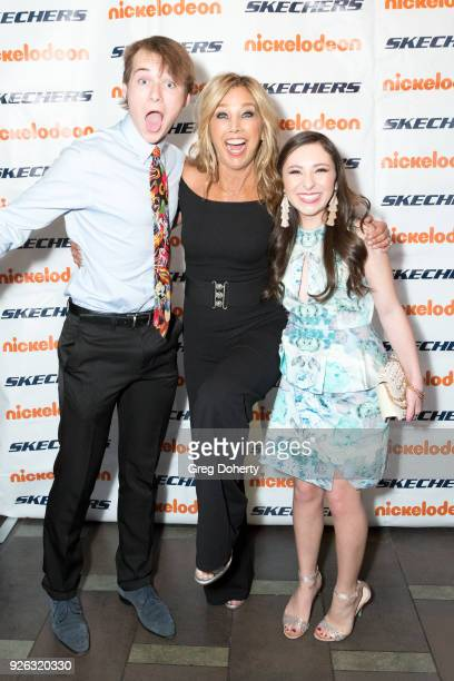Valleroy Denise Austin and Ava Cantrell attend the 9th Annual SKECHERS Pier To Pier Friendship Walk Evening Of Celebration And Check Presentation at...