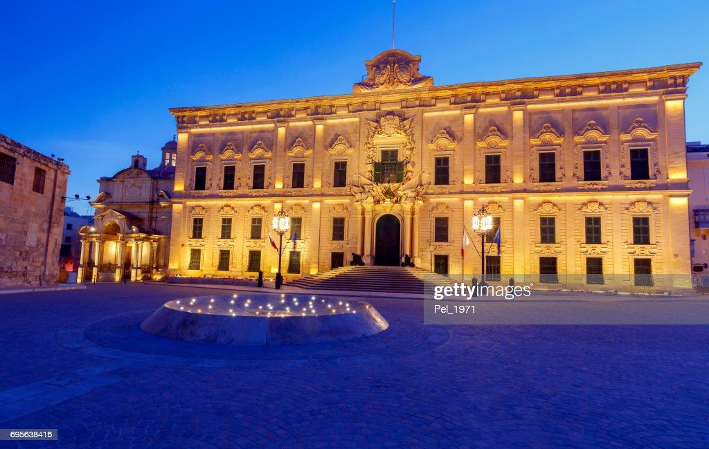 Valletta Auberge De Castille High-Res Stock Photo - Getty Images