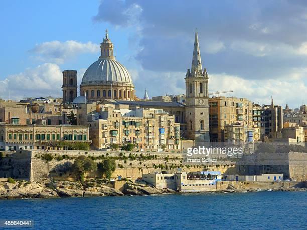 valletta, capital of malta - frans sellies stockfoto's en -beelden