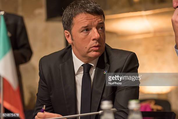 Valletta, Malta.12/11/15: Italian Prime Minister Matteo Renzi At the two-day Malta summit,which will build on existing cooperation processes between...