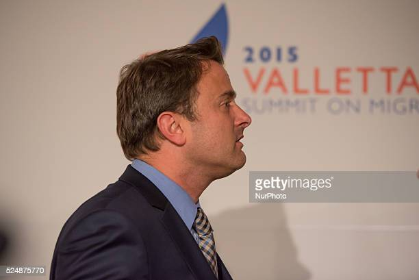 Valletta, Malta.12/11/15: Luxembourg's Prime Minister Xavier Bettel At the two-day Malta summit,which will build on existing cooperation processes...
