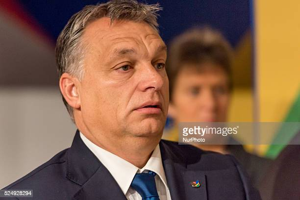Valletta, Malta.12/11/15:Hungarian Prime Minister Viktor Orban pictured on the second day of the Valletta summit on migration during the Roundtable...