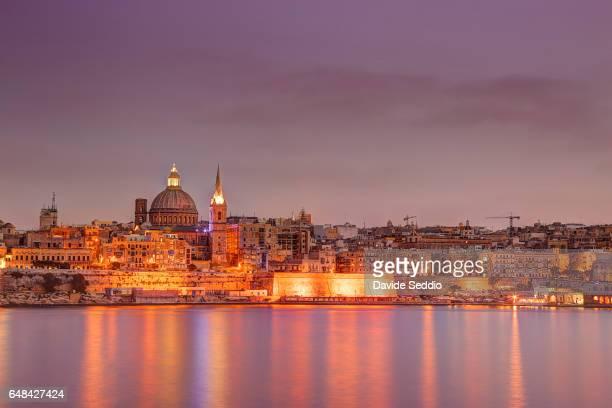 Valletta skyline in the evening