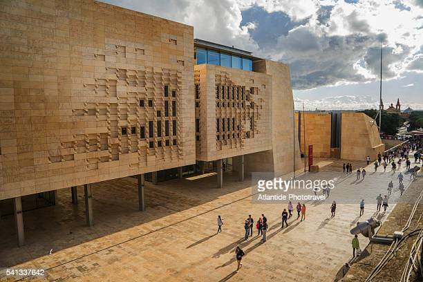 Valletta, the new City Gate and the Parliament designed by Renzo Piano