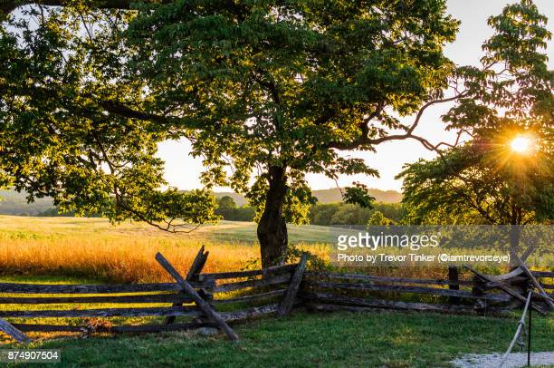 valley forge sunset - pennsylvania stock pictures, royalty-free photos & images