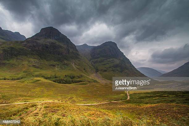 Valley Glencoe, die Highlands von Schottland