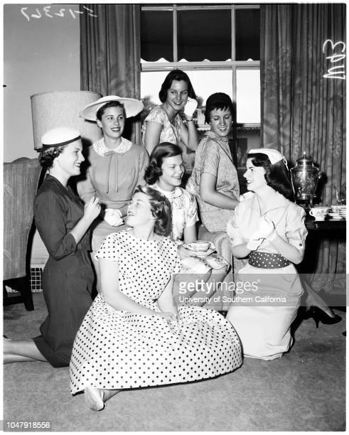 Valley hunt, 28 May 1958. Joan Bedell;Lura Myers;Julia Wingfield;Margaret Taylor;Mary Ann Peatmen;Margaret Craig;Adele Hughes. .;Caption slip reads:...
