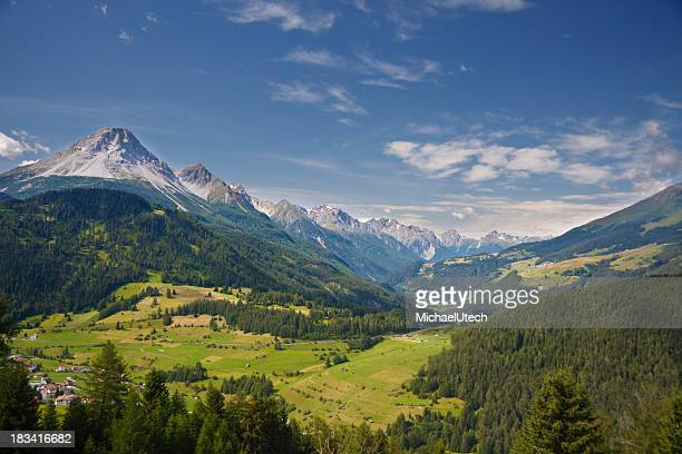 Valley In Austrian Mountain Landscape