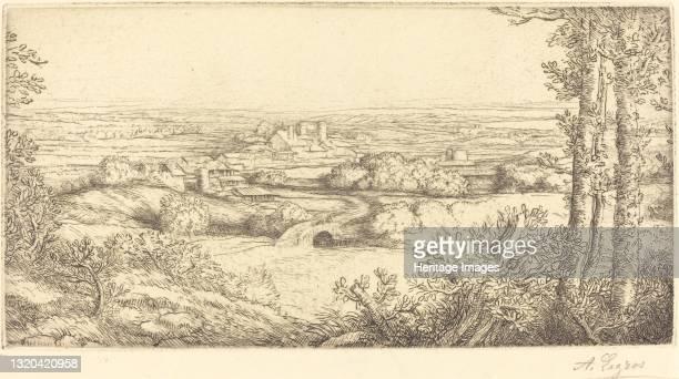 Valley in Bourgogne . Artist Alphonse Legros.