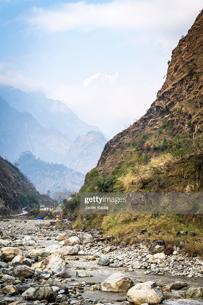 Valley in Himalaya mountains : Stock Photo