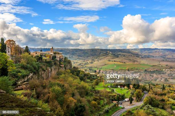 a valley in orvieto, italy. - orvieto stock pictures, royalty-free photos & images