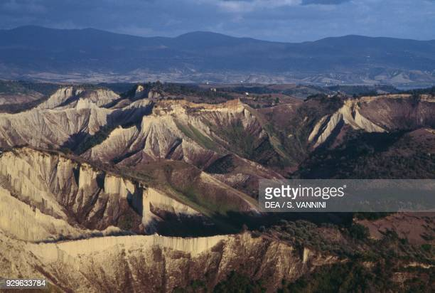 Valley in the Bagnoregio badlands Lazio Italy