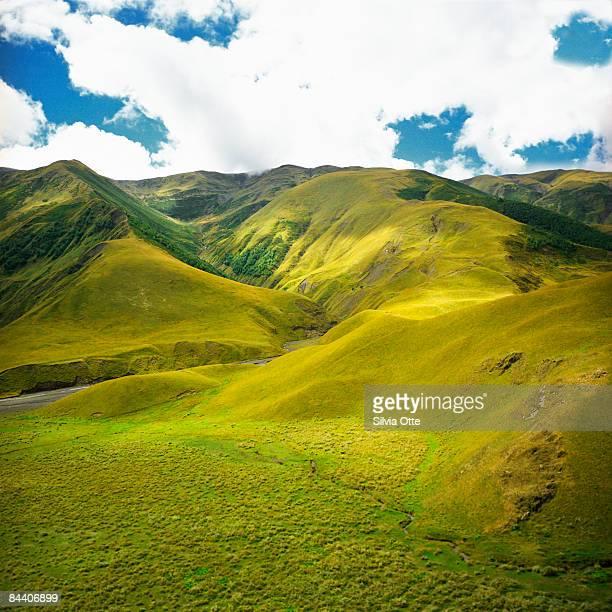 valley in the  Tusheti mountains