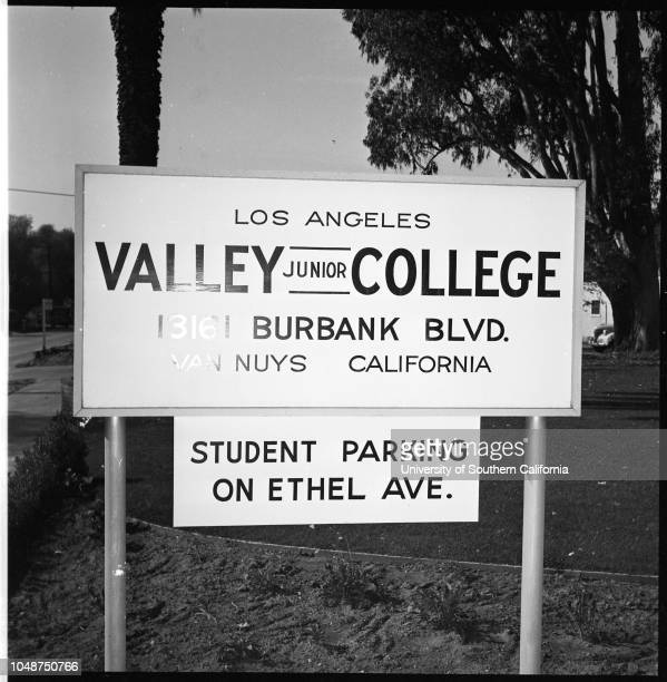 Valley Junior Colley layout 10 November 1952 Views of college grounds and buildings Dr Vierling Kersey Dean Walter CoultasCarol Markham Mrs Nena...