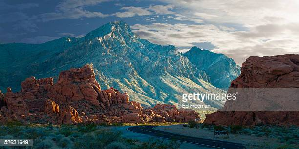 Valley of Fire at Sunset, Panorama