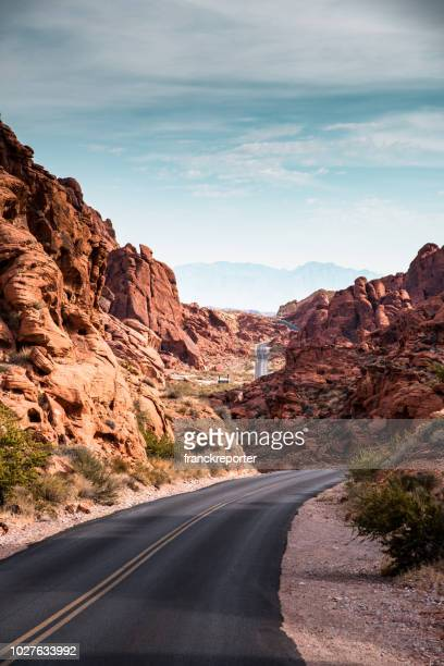 valley of fire state park road - nevada stock pictures, royalty-free photos & images
