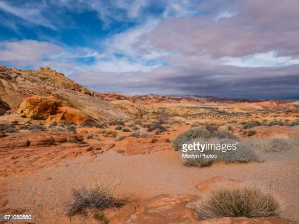 valley of fire state park-rainbow view - nevada stock-fotos und bilder