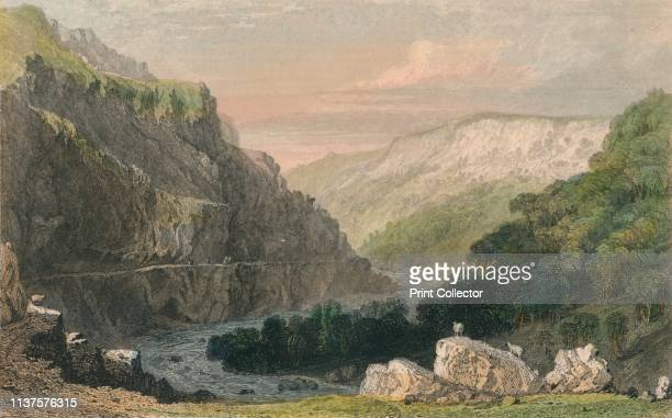 Valley of Linmouth, North Devon', circa 1830. Dramatic gorge near the village of Lynmouth in Devon, on the northern edge of Exmoor. Artist Joseph...