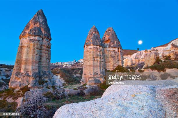 valley of love sunrise, goreme, cappadocia, turkey - foreskin stock pictures, royalty-free photos & images